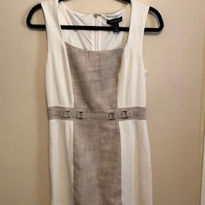 Black and white dress size large .
